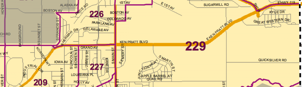 Precinct map - SE Longmont district